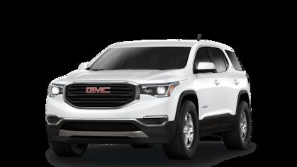 2019 GMC Acadia SLE mid-size SUV in white.