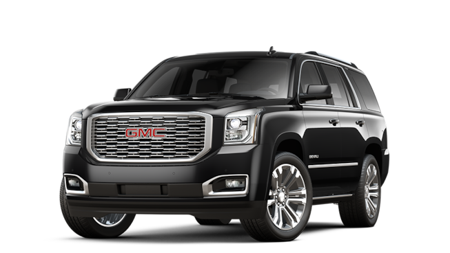 2018 GMC Yukon Denali luxury SUV in black.