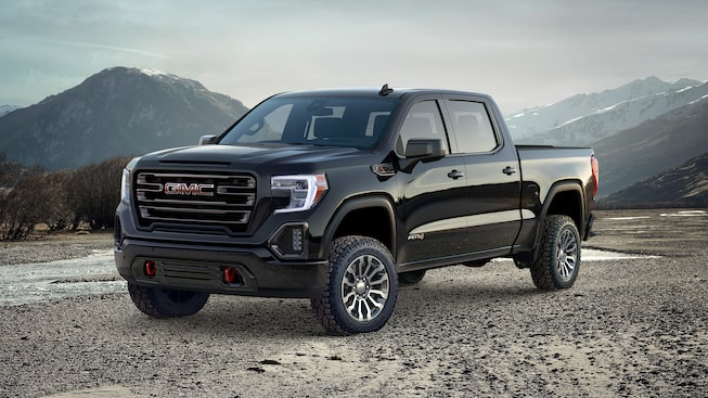 Jellybean image of the 2019 GMC Sierra 1500 AT4 light-duty pickup truck.