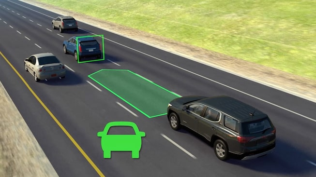 Adaptive cruise control safety feature in the 2020 GMC Acadia Denali Luxury SUV