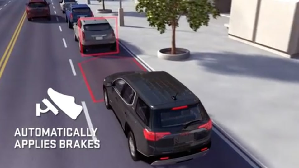 2020 GMC Acadia Denali Luxury SUV: pedestrian lane safety alert
