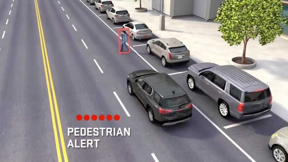 2020 Sierra AT4 Off Road Truck: safety pedestrian alert