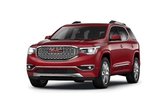 2018 Acadia Denali in crimson red tintcoat.