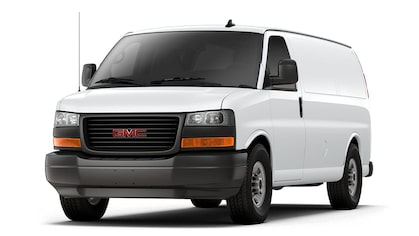 Jellybean image of the 2018 GMC Savana Cargo 3500 commercial van.