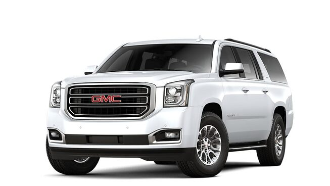 2018 Yukon XL in white frost tricoat.