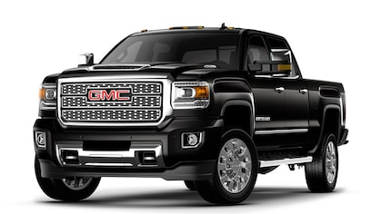 Click to learn more about the 2019 GMC Sierra Denli HD heavy-duty pickup truck.