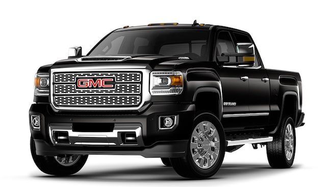 Image featuring 2019 GMC Sierra 2500HD Denali heavy-duty luxury pickup truck.