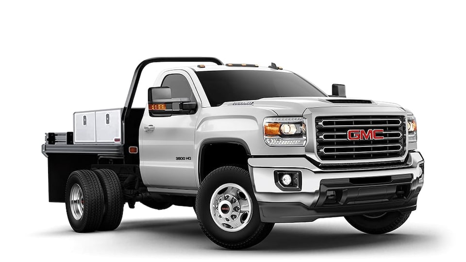 2019 Sierra 3500 Chassis Cab summit white.