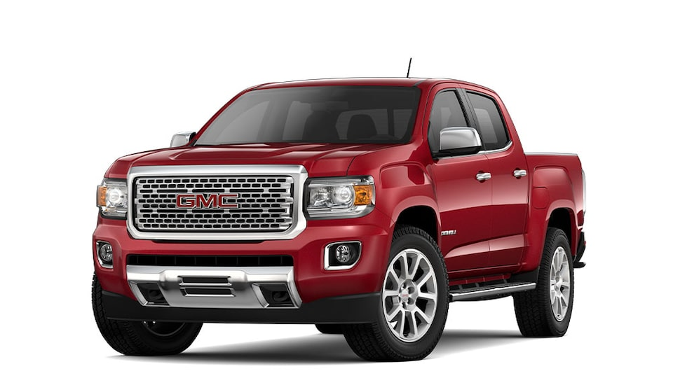 2020 GMC Canyon Denali Small Luxury Pickup Truck in Red Quartz Tintcoat
