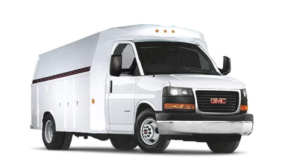 2019 GMC Savana Cutaway Upfit in Summit White