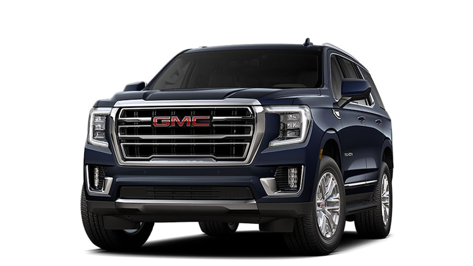 2021 GMC Yukon Full size SUV in Midnight Blue Metallic