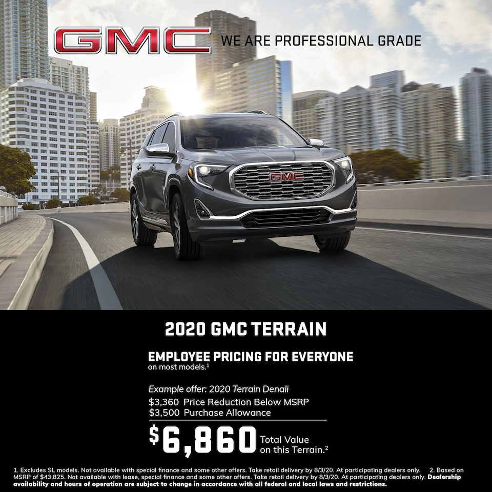 GMC Here to Help | Most 2020 GMC Terrain Models: 0% APR for 84 Months for very well qualified buyers