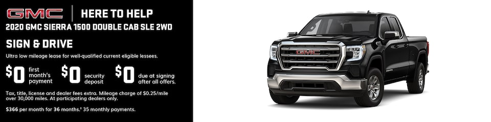 GMC Here to Help | Most 2020 GMC Sierra 1500 Models: 0% APR for 84 Months for very well qualified buyers