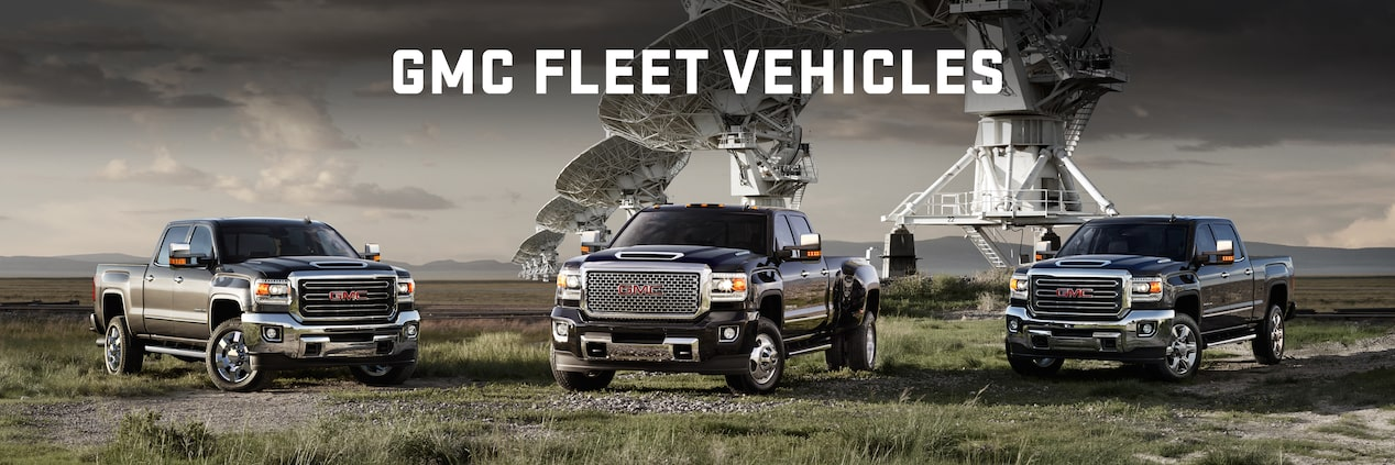 Full Line up of GMC Fleet Trucks and SUVs