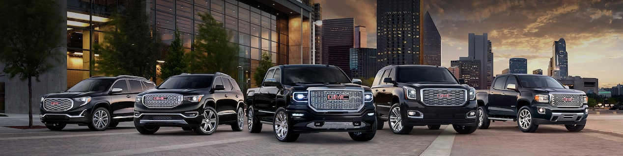 GMC vehicle lineup for GMC vehicle purchase program.