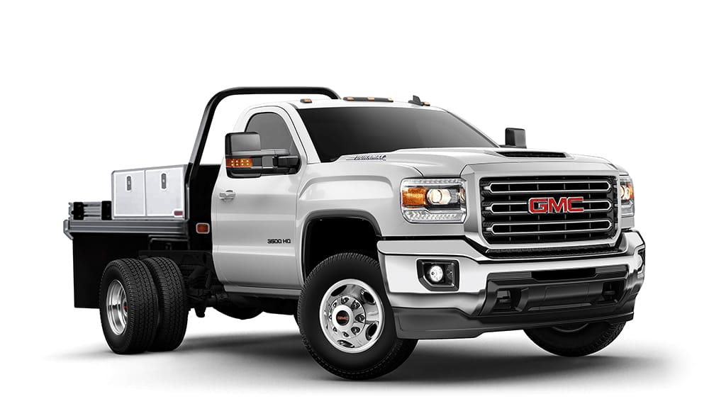 2018 Sierra 3500 Chassis Cab summit white.