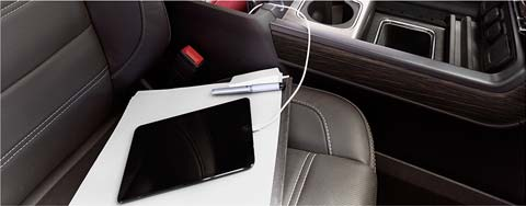 GMC commercial vehicles Wi-Fi hotspot.