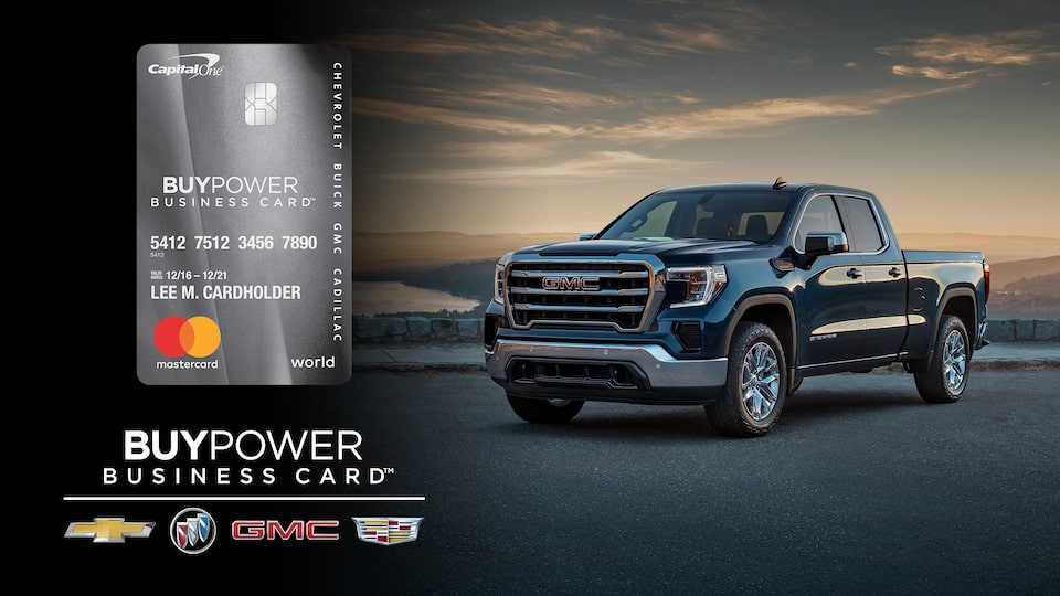 GMC BuyPower Business Card and GMC Sierra