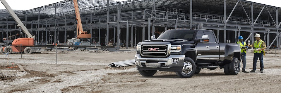 2019 GMC Sierra Heavy Duty Pickup Truck Commercial Vehicle at Construction Site