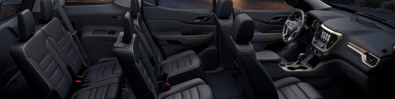 GMC SUV interior seating.