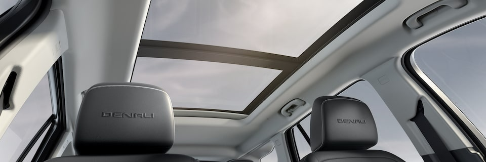 2020 GMC Denali Interior Headrest and Sunroof