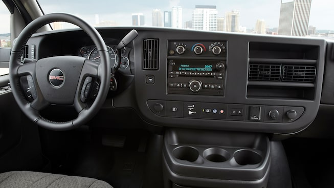 2020 GMC Savana Passenger Van: interior dashboard