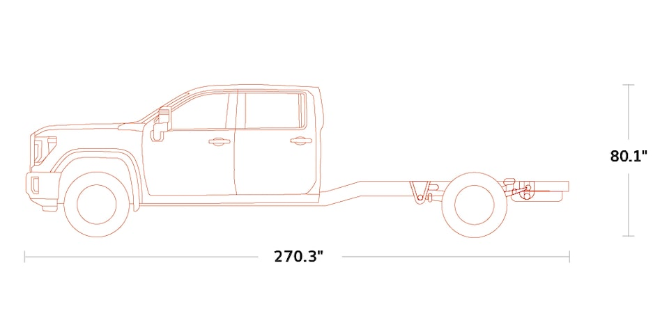 Diagram of the 2020 GMC Sierra HD Chassis Cab Crew Cab