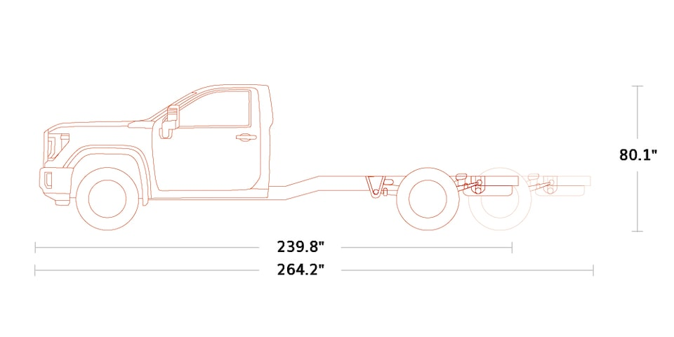 Diagram of the 2020 GMC Sierra HD Chassis Cab Regular Cab