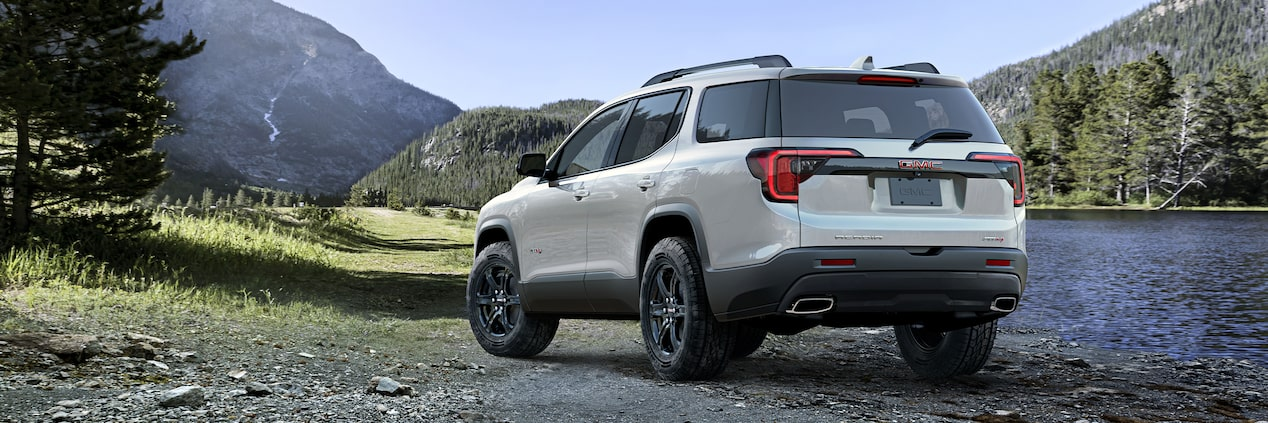 2020 GMC Acadia AT4 Mid-Size SUV: rear angle view