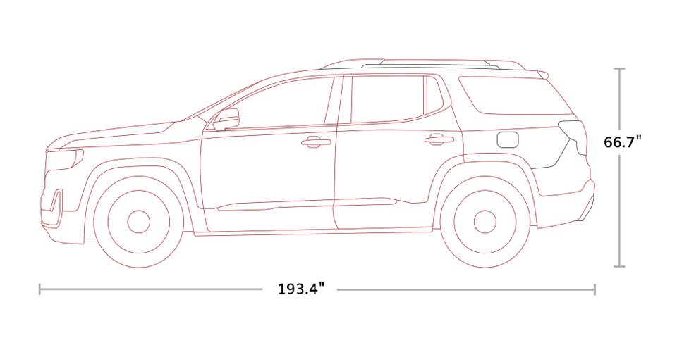 2021 GMC Acadia AT4 Off-road SUV Specs and Dimensions