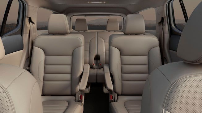 2020 GMC Acadia Denali Luxury SUV: interior rear seats