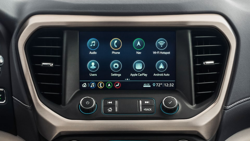 2020 GMC Acadia Denali Luxury SUV: infotainment & climate control system