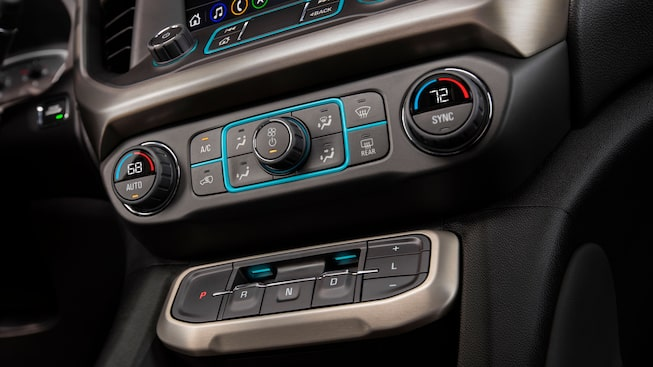 2020 GMC Acadia Mid-Size SUV: climate control system