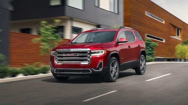 2020 GMC Acadia Mid-Size SUV: driving down the street