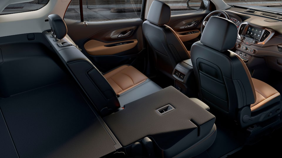 2020 GMC Terrain interior shot back to front