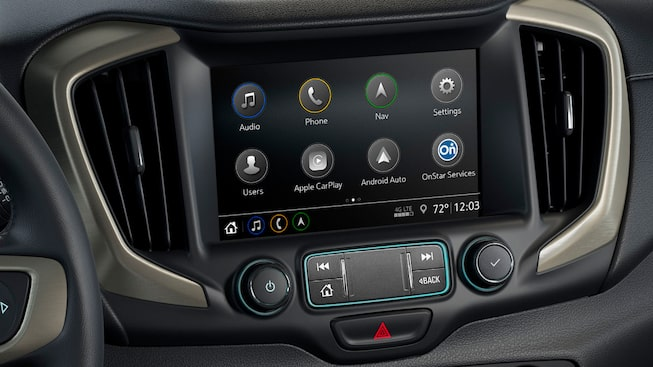 2020 GMC Terrain Denali interior technology touch screen
