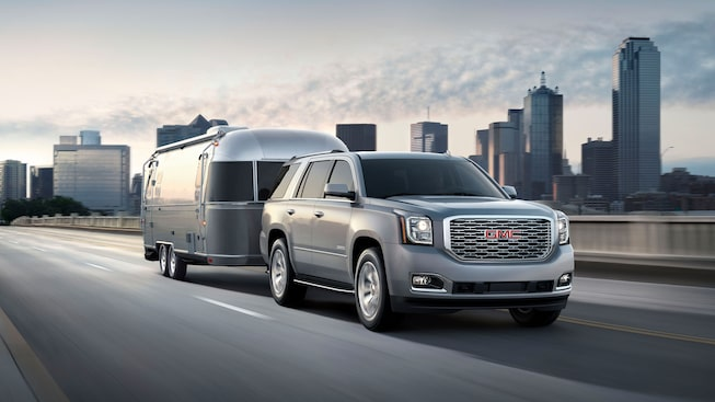 2020 GMC Yukon Denali full size SUV powerfully capable towing image
