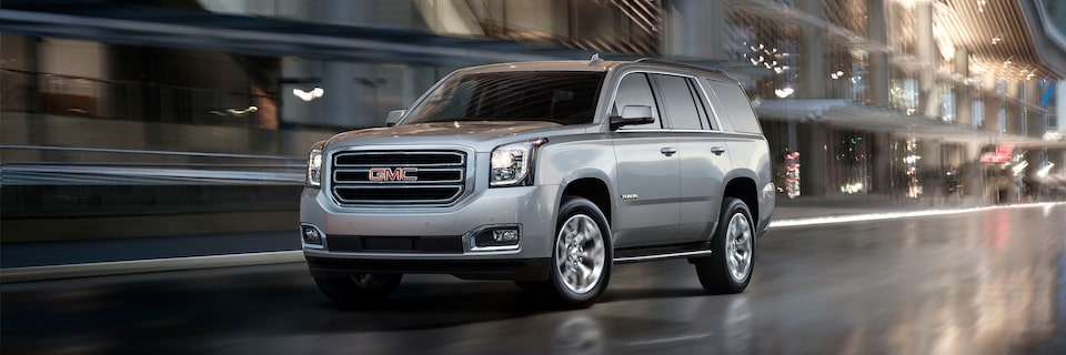 2020 GMC Yukon full size SUV exterior features distinctive design