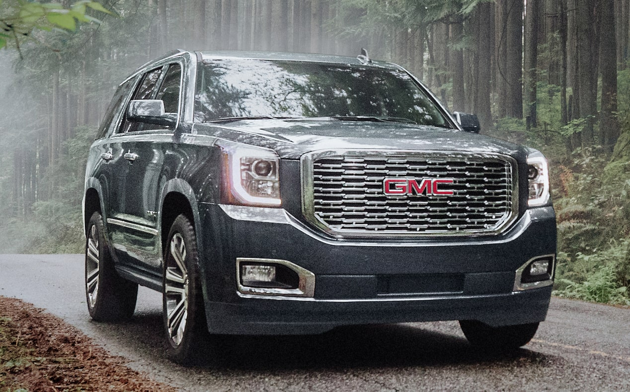 2020 GMC Yukon Denali Ultimate full size SUV front shot