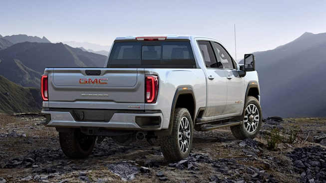 Next Generation Sierra HD Truck: AT4 Rear View