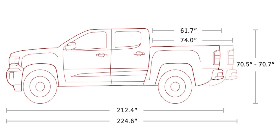 2020 GMC Canyon All Terrain Crew Cab Small Truck Specs Image