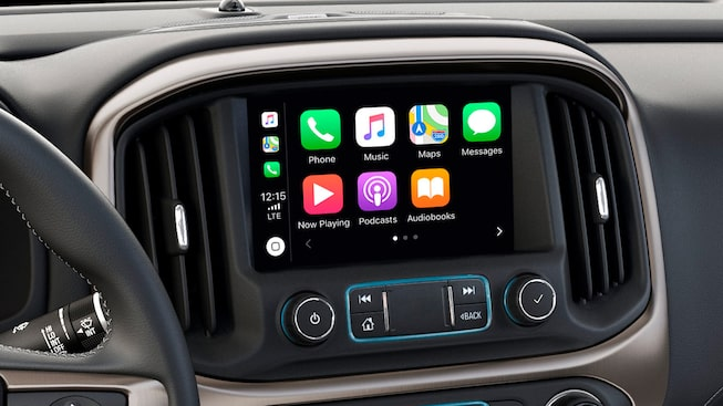 2020 GMC Canyon Small Pickup Truck Technology Features Apple Carplay
