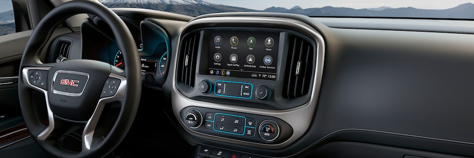 2020 GMC Canyon Small Pickup Truck Technology Features Masthead Image