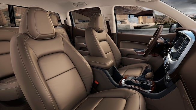 2020 GMC Canyon Small Pickup Truck Interior Gallery Passenger to Back Image