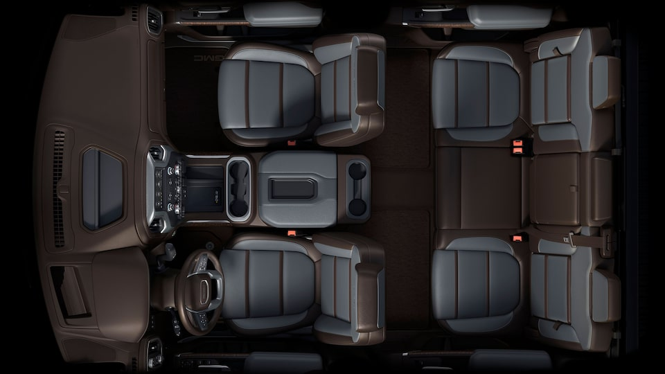 2020 GMC Sierra 1500 Denali Luxury Pickup Truck Interior Class Leading Interior Aerial View