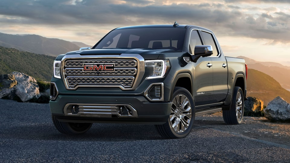 2020 GMC Sierra 1500 Denali Luxury Pickup Truck Front Angle Shot Design with Purpose