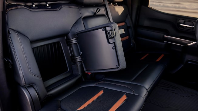 2020 Sierra AT4 Off Road Truck: rear seat cargo space