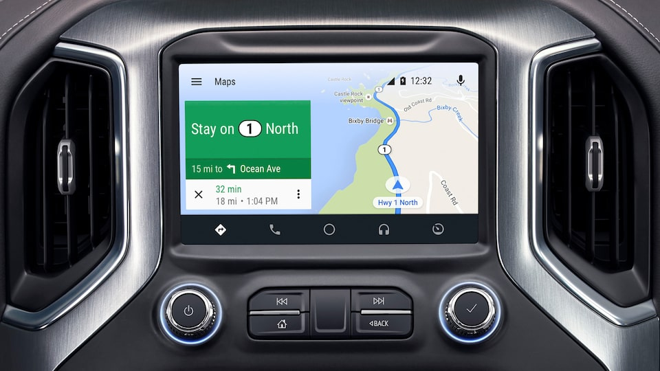 2020 GMC Sierra 1500 Pickup Truck: android auto system with google maps navigation