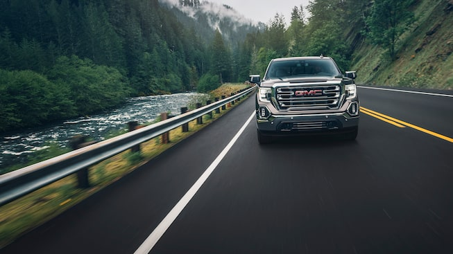 2020 GMC Sierra 1500 Pickup Truck: river view driving