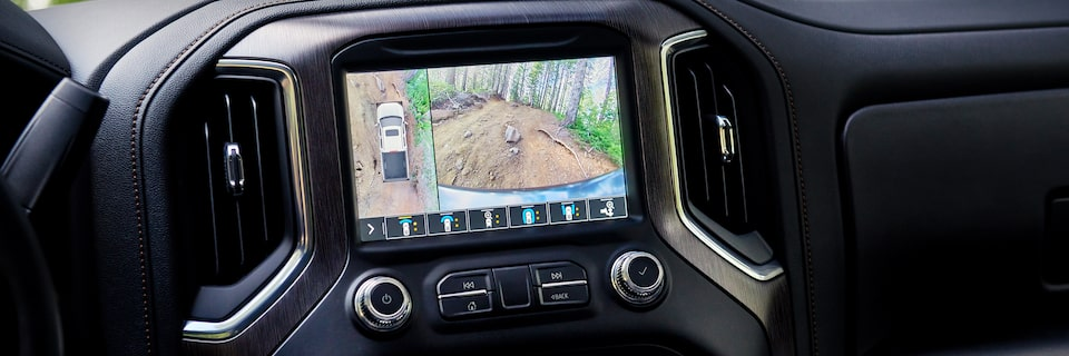 2020 Sierra AT4 Off Road Truck: infotainment system camera showing surrounding